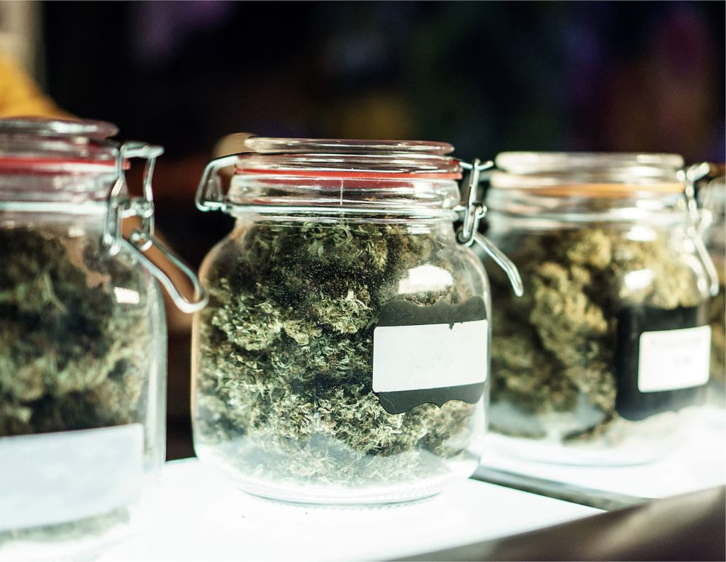 Cannabis in Jars